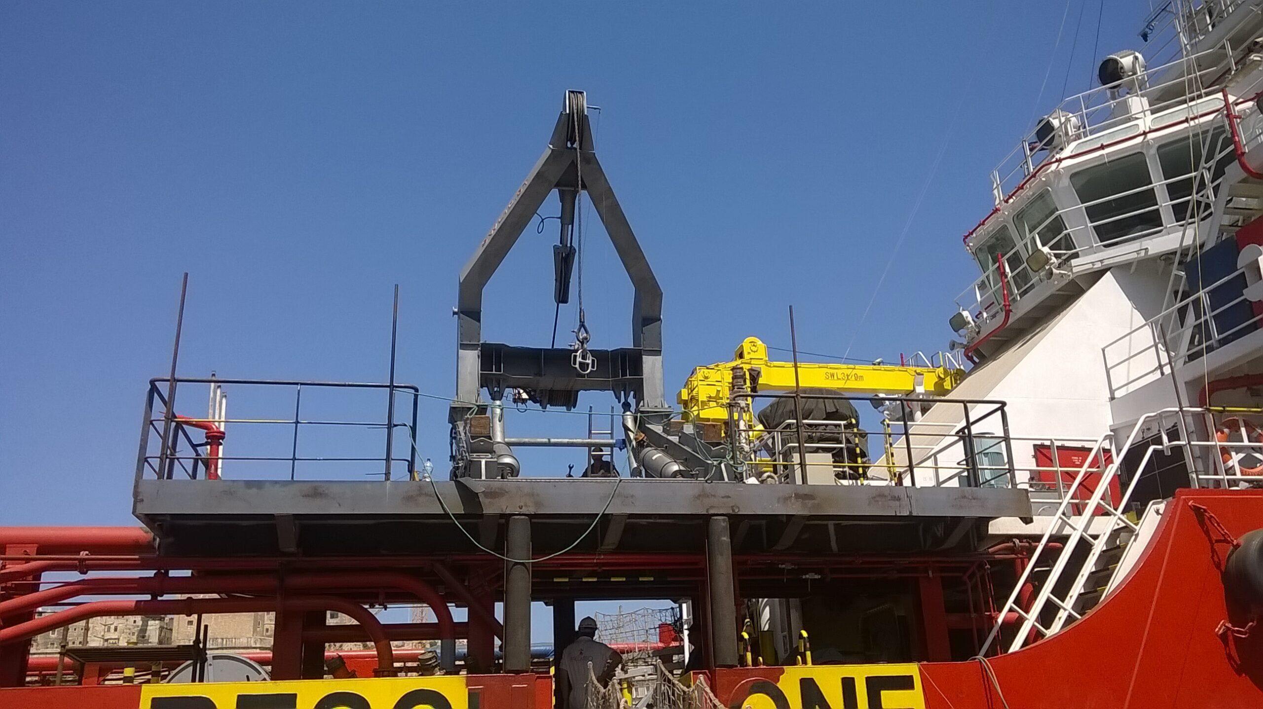 Installation of New RB Davit & Platform